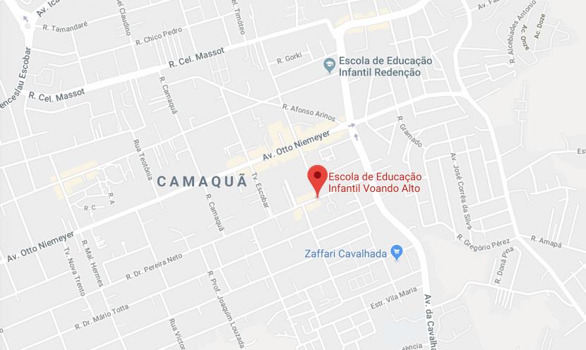 Mapa para encontrar a escola
